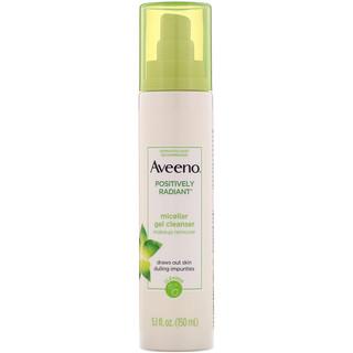 Aveeno, Positively Radiant, Micellar Gel Cleanser, 5.1 fl oz (150 ml)