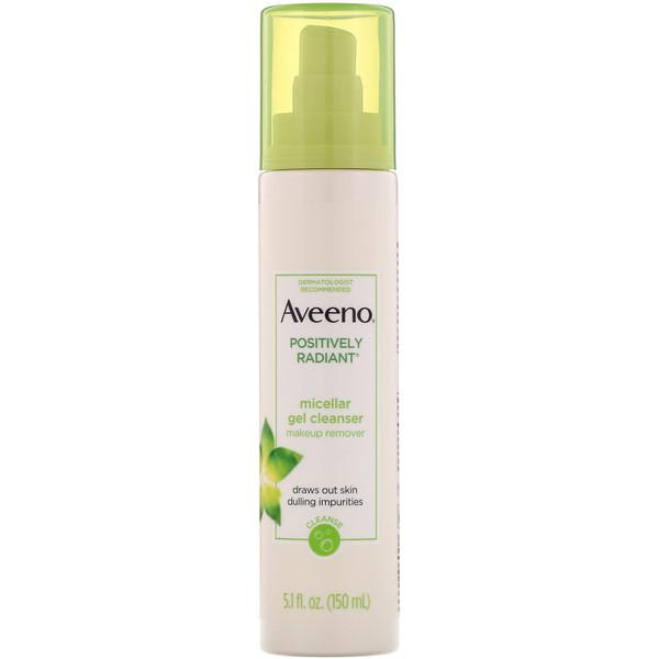 Aveeno, Позитивное сияние, мицеллярное гелевое очищающее средство, 5,1 ж. унц. (150 мл)