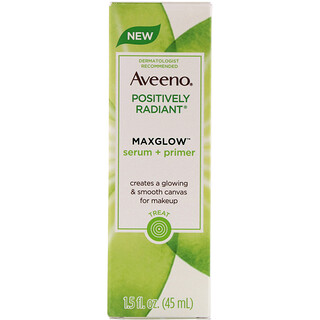 Aveeno, Positively Radiant, Maxglow Serum + Primer, 1.5 fl oz (45 ml)