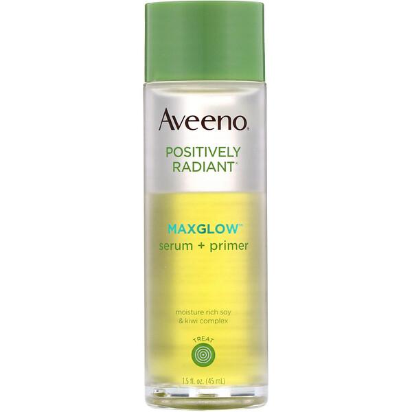 Aveeno, Positively Radiant, suero e imprimador Maxglow, 1,5onzas líquidas (45ml) (Discontinued Item)