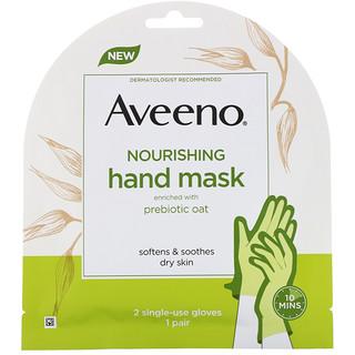 Aveeno, Nourishing Hand Mask, 2 Single-Use Gloves