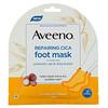 Aveeno, Repairing Cica Foot Mask, 2 Single-Use Slippers