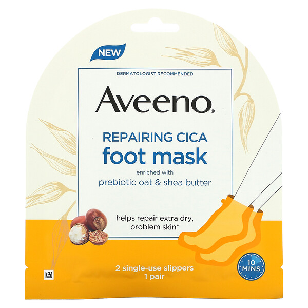 Repairing Cica Foot Mask, 2 Single-Use Slippers
