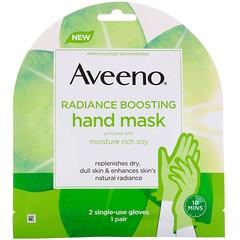 Aveeno, Radiance Boosting Hand Mask, 2 Single-Use Gloves