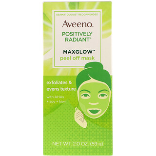 Aveeno, Positively Radiant, MaxGlow Peel Off Mask, 2 oz (59 g)