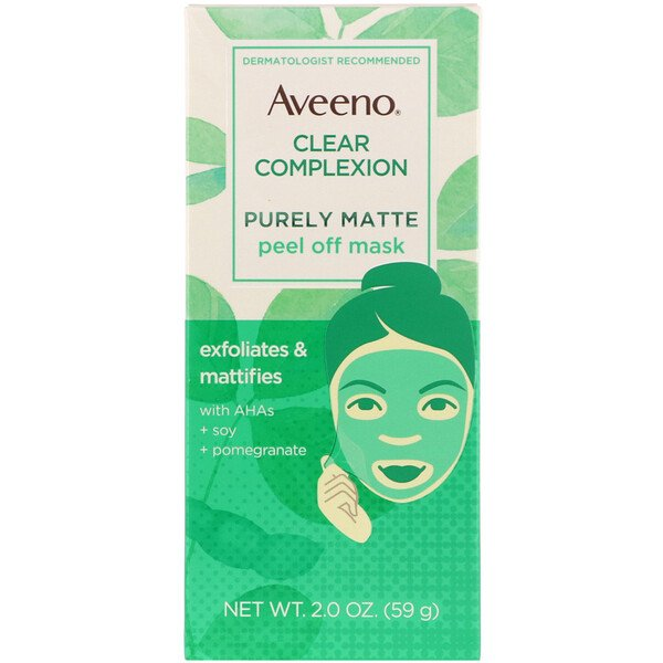 Aveeno, Clear Complexion, Purely Matte Peel Off Mask, 2.0 oz (59 g)