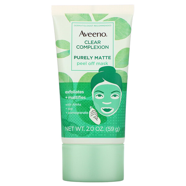 Aveeno, Clear Complexion, Purely Matte Peel Off Mask, 2.0 oz (59 g) (Discontinued Item)