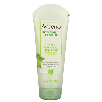 Купить Aveeno Positively Radiant, Skin Brightening Daily Scrub, 7.0 oz (198 g)