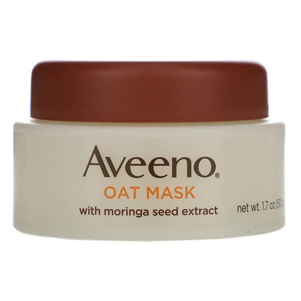 Aveeno, Oat Mask with Moringa Seed Extract, Detox, 1.7 oz (50 g)