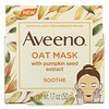 Aveeno, Oat Beauty Mask with Pumpkin Seed Extract, Soothe, 1.7 oz (50 g)