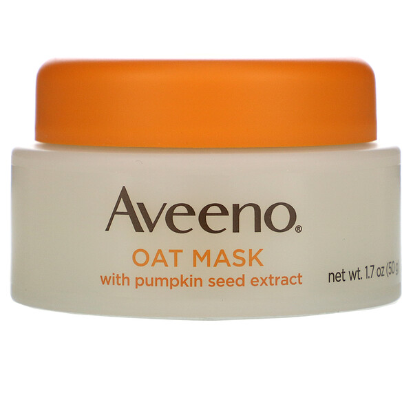 Aveeno, Oat Mask with Pumpkin Seed Extract, Soothe, 1.7 oz (50 g)