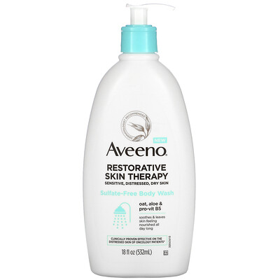 Купить Aveeno Restorative Skin Therapy, Sulfate-Free Body Wash, 18 fl oz (532 ml)