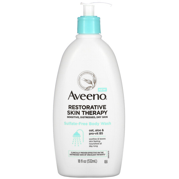 Aveeno, Restorative Skin Therapy, Sulfate-Free Body Wash,  18 fl oz (532 ml)