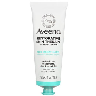 Купить Aveeno Restorative Skin Therapy, Itch Relief Balm, 4 oz (113 g)