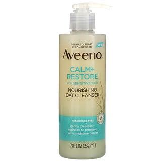 Aveeno, Calm + Restore, Nourishing Oat Cleanser, Fragrance Free, 7.8 fl oz (232 ml)