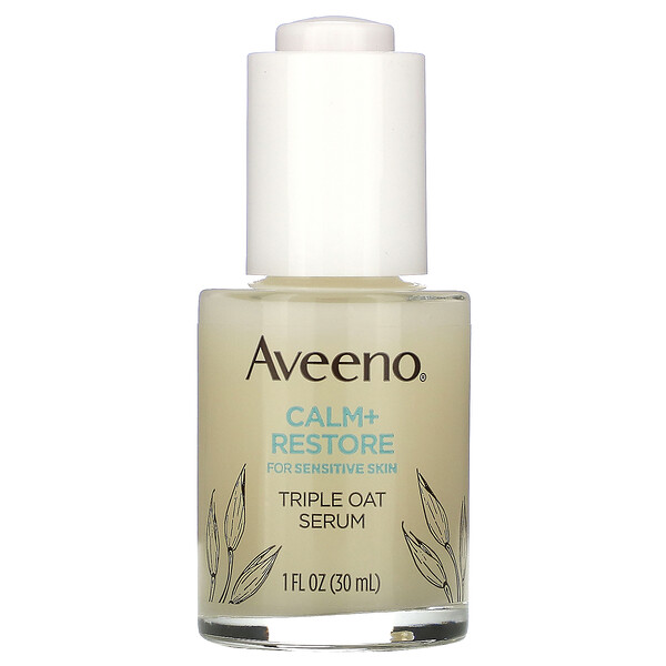 淨膚 + 修復三重作用燕麥精華霜,適用於敏感肌,1 液量盎司(30 毫升)