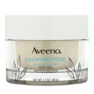 Aveeno, Calm + Restore, Oat Gel Moisturizer, Fragrance Free, 1.7 oz (48 g)