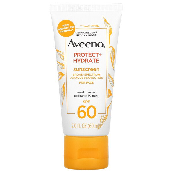 Aveeno, Protect + Hydrate, Sunscreen, For Face, SPF 60, 2 fl oz (60 ml)