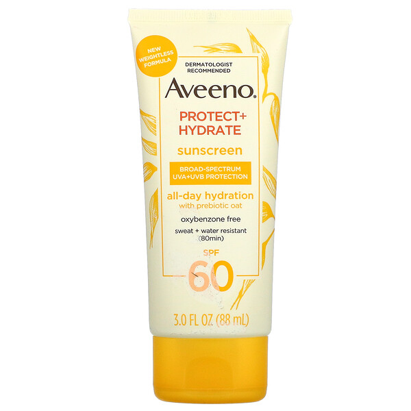 Aveeno, Protect + Hydrate, Sunscreen, SPF 60, 3 fl oz (88 ml)
