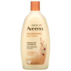 Aveeno, 滋養沐浴露,益生元 + 巴旦木油,18 液量盎司(532 毫升)