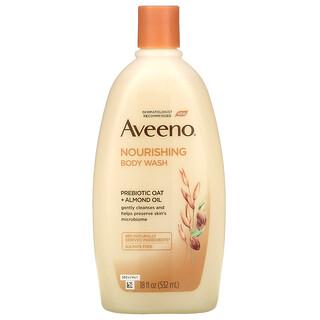 Aveeno, Nourishing Body Wash, Prebiotic Oat + Almond Oil, 18 fl oz (532 ml)