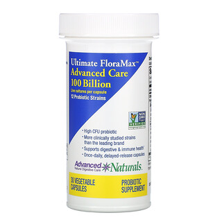 Advanced Naturals, Ultimate FloraMax, Advanced Care, 100 Billion, 30 Vegetable Capsules