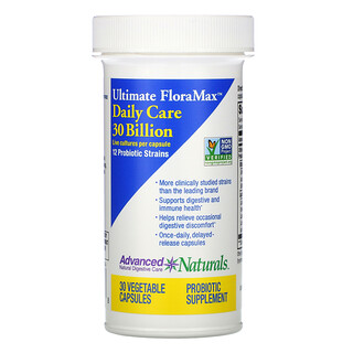 Advanced Naturals, Ultimate FloraMax, Daily Care, 30 Billion, 30 Vegetable Capsules