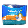 Always, Ultra Thin with Wings, Size 4, Overnight, 14 Pads