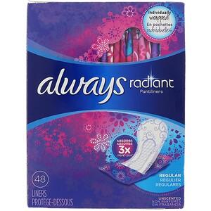 Always, Radiant Pantiliners, Regular, Unscented, 48 Liners отзывы