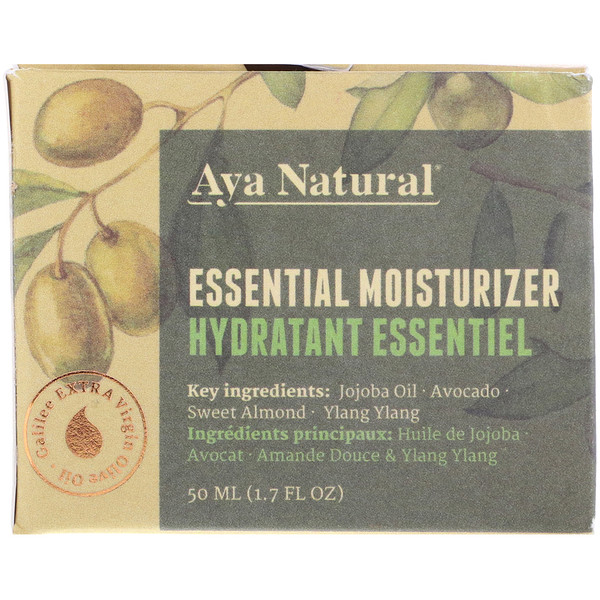 Aya Natural, Essential Moisturizer, 1.7 fl oz (50 ml)