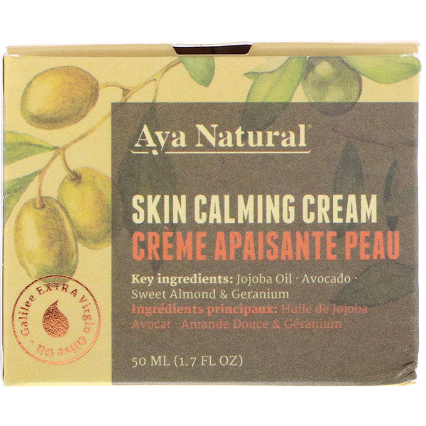 Aya Natural, Skin Calming Cream, 1.7 fl oz (50 ml) (Discontinued Item)