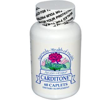 Ayush Herbs Inc., Carditone, 60 Caplets