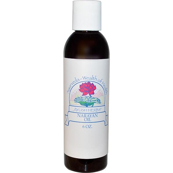 Ayush Herbs Inc., Narayan Oil, 6 oz (Discontinued Item)