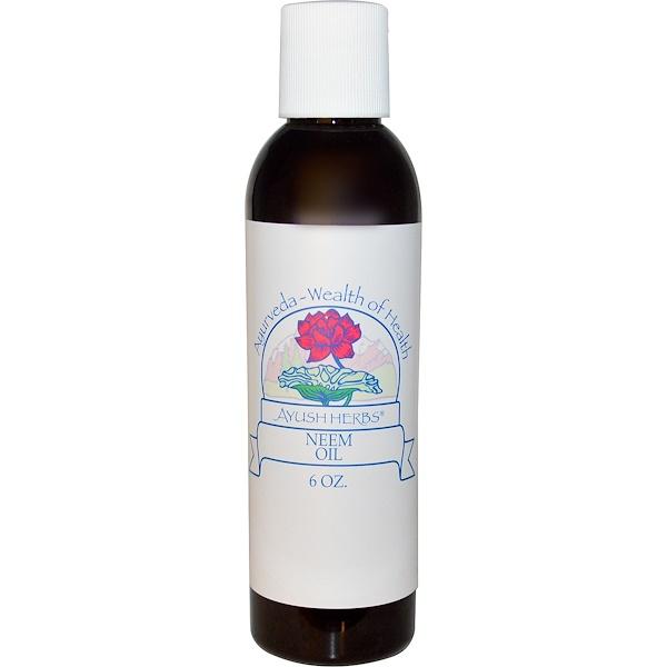 Ayush Herbs Inc., Масло нима, 6 унций (Discontinued Item)