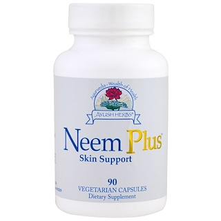 Ayush Herbs Inc., Neem Plus Skin Support , 90 Veggie Caps