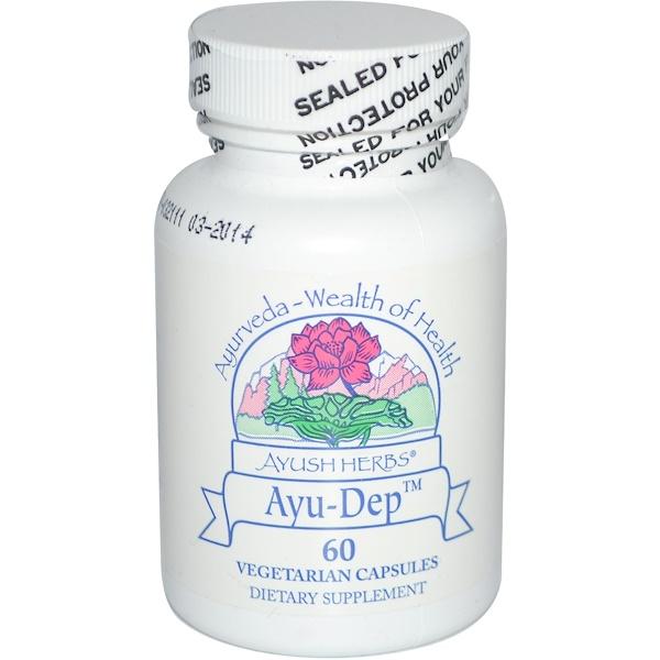 Ayush Herbs Inc., Ayu-Dep, 60 Veggie Caps (Discontinued Item)