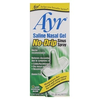 AYR, Saline Nasal Gel, No-Drip Sinus Spray, 0.75 fl oz (22 ml)