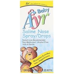 AYR, بخاخ / قطرات الأنف الملحية للأطفال، 1 أونصة سائلة (30 مل)
