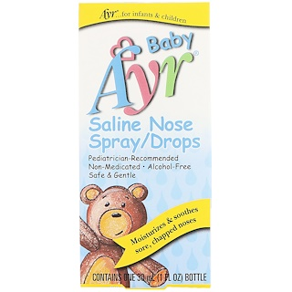 AYR, Baby Saline Nose Spray/Drops, 1 fl oz (30 ml)