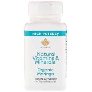 Савеста, Natural Vitamins & Minerals, Organic Moringa, 60 Vegetarian Capsules отзывы