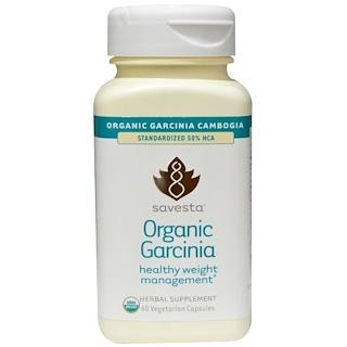 Savesta, Органическая гарциния, 60 вегетарианских капсул