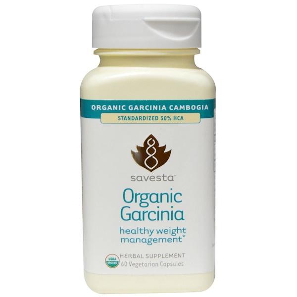 Savesta, Organic Garcinia, 60 Veggie Caps