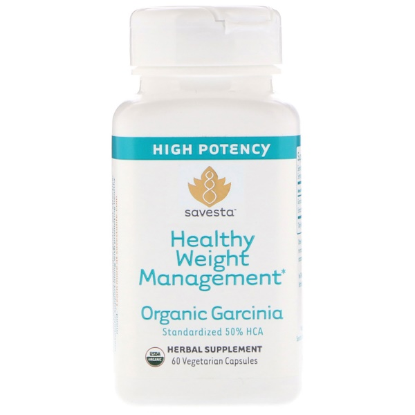 Savesta, Organic Garcinia, 60 Vegetarian Capsules