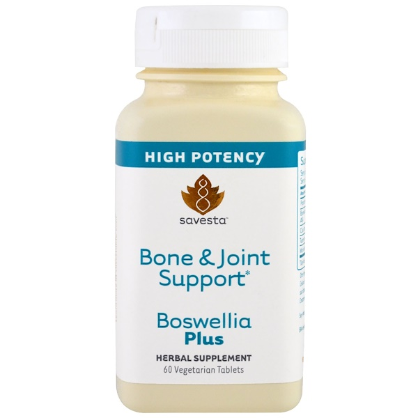 Savesta, Bone & Joint Support, Boswellia Plus, 60 Veggie Tabs