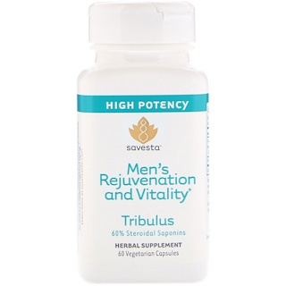 Savesta, Tribulus, Men's Rejuvenation and Vitality, 60 Vegetarian Capsules
