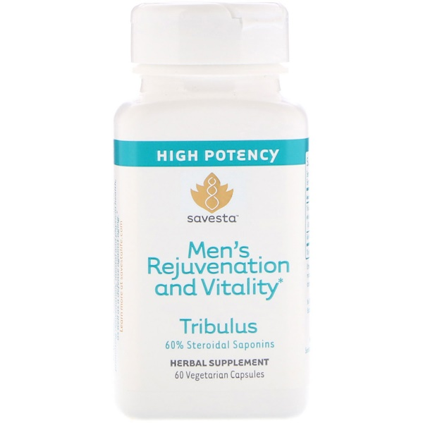 Tribulus, Men's Rejuvenation and Vitality, 60 Vegetarian Capsules