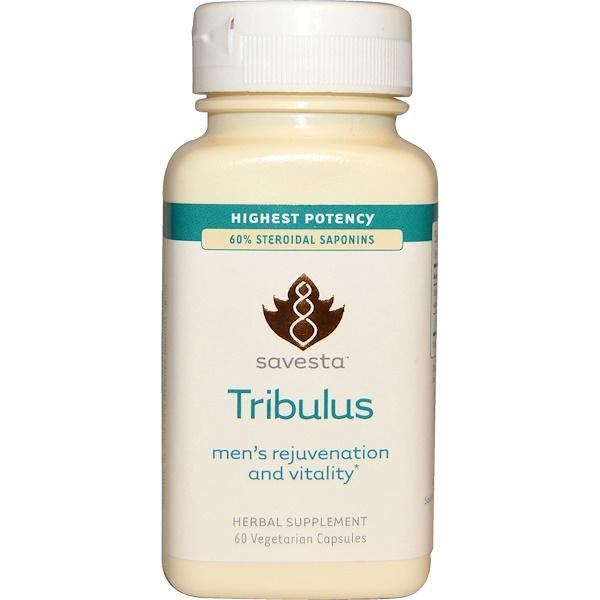 Savesta, Tribulus, Men's Rejuvenation and Vitality, 60 Veggie Caps