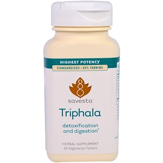 Savesta, Triphala, 60 Vegetarian Tablets