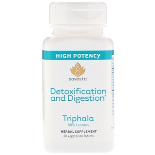 Savesta, Detoxification and Digestion, Triphala, 60 Vegetarian Tablets