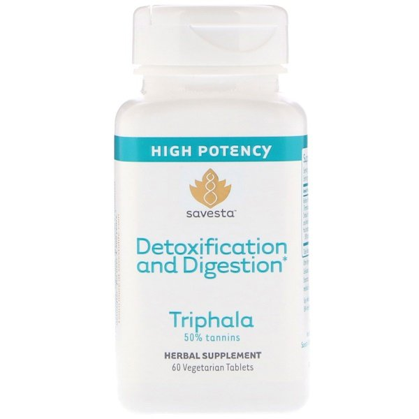 Detoxification and Digestion, Triphala, 60 Vegetarian Tablets